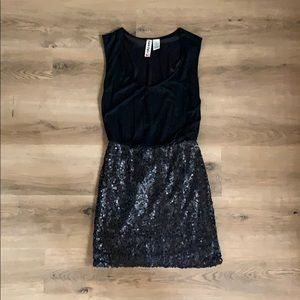 Black Sequin Party Dress Size Small